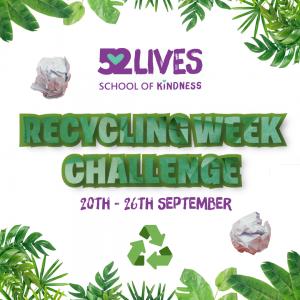 Recycling Week Challenge sheet